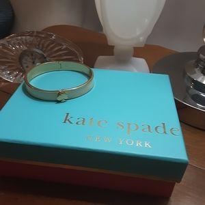 Classic enamel Kate Spade hinged spade bracelet